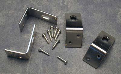 Prucha L-Bracket for 1-Pc. Flange – Nickel or Gold (Set of 4 w/ Screws) Product