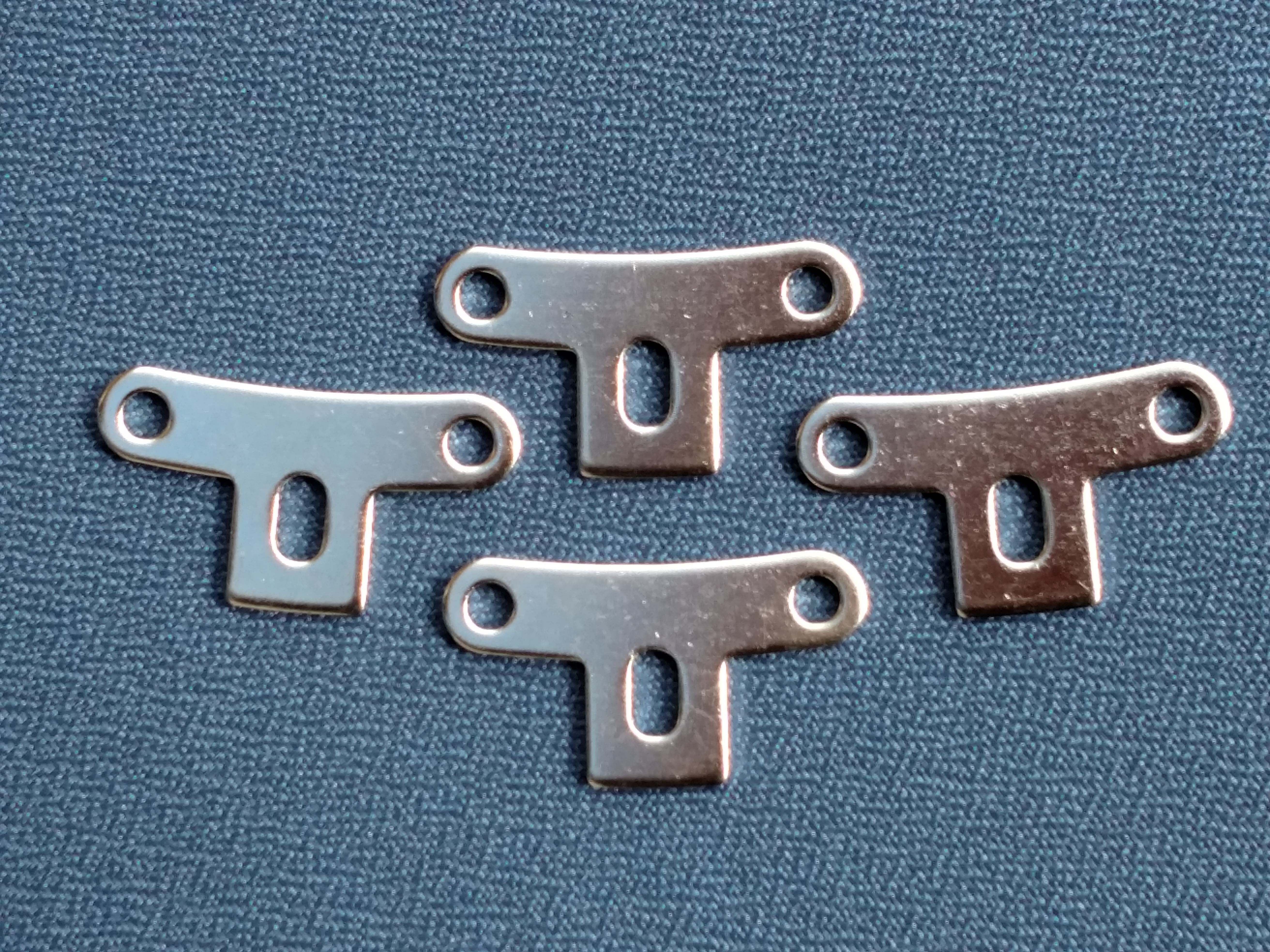 Prucha T-Brackets – Nickel (Set of 4) Product