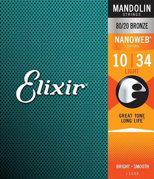 Elixir 80/20 Bronze Nanoweb Mandolin Strings Product