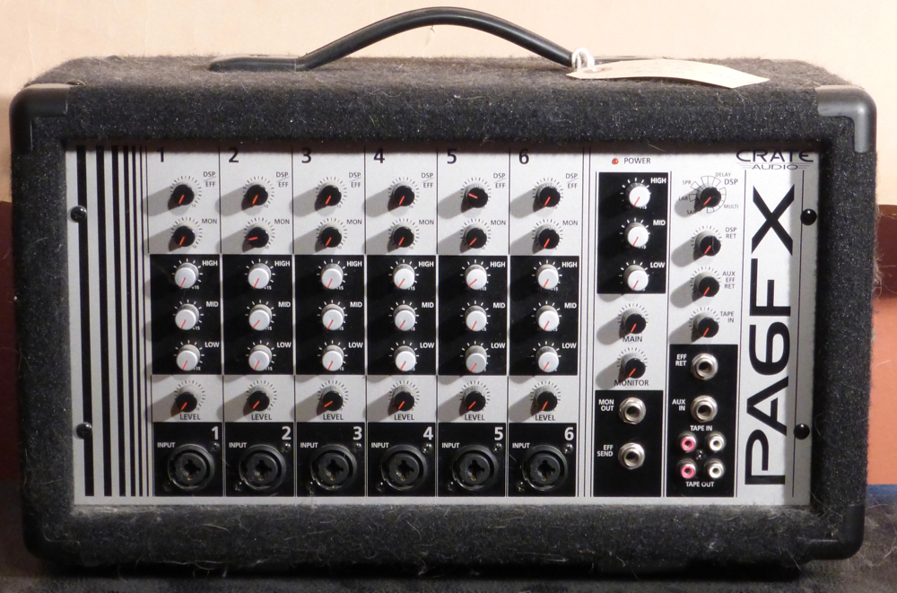 Crate PA6FX Powered Mixer Product